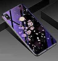 Чехол Glass-case для Xiaomi Mi A2 Lite / Redmi 6 Pro бампер накладка Sakura
