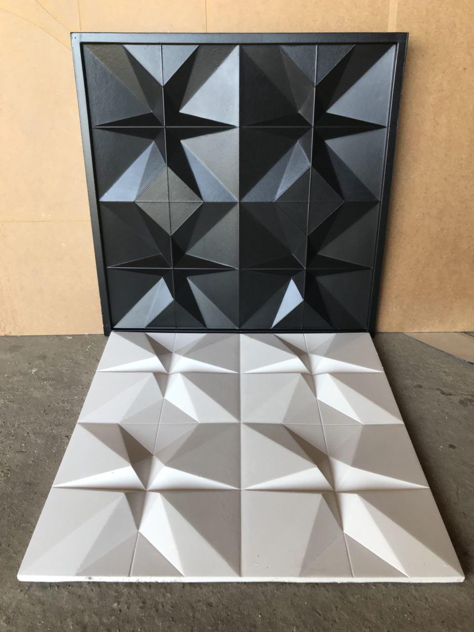 """Пластиковая форма для изготовления 3d панелей """"Футуризм"""" 50*50 (форма для 3д панелей из абс пластика)"""