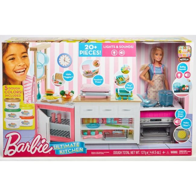 Набор игровой Barbie Супер кухня с куклой FRH73