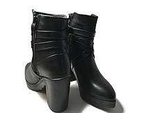 Стильные женские ботинки на каблуке, фото 3