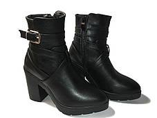 Стильные женские ботинки на каблуке, фото 2