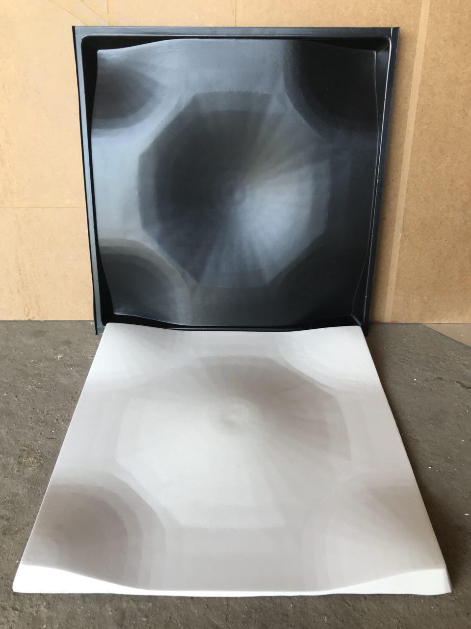 """Пластиковая форма для изготовления 3d панелей """"Сайп"""" 50*50 (форма для 3д панелей из абс пластика)"""
