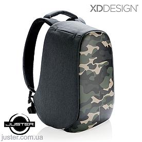 """Рюкзак Bobby Compact для ноутбука 14"""" от XD Design (P705.657) зеленый комуфляж"""