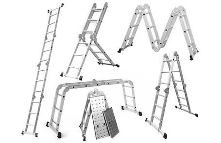 Лестница алюминиевая, 4x3 Higher, платформа, фото 2