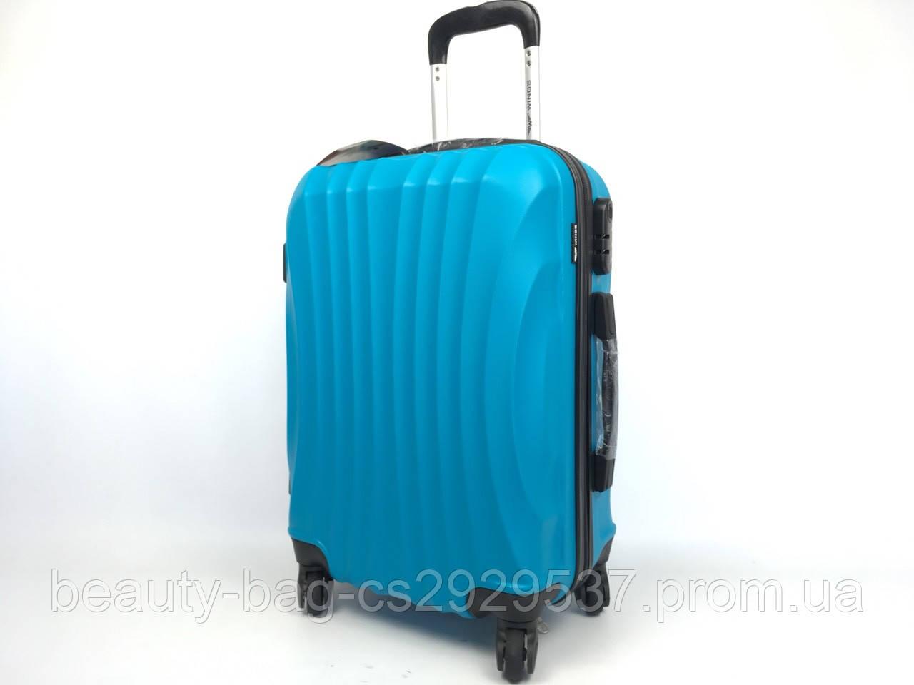 Чемодан пластиковый среднего размера Wings 159 Midi синий
