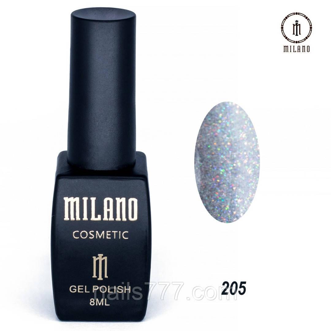 Гель-лак Milano 8 мл, № 205