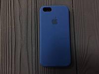 Чехол для iPhone 5 / 5s / SE Silicone Case Blue, фото 1