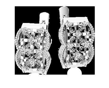 Серьги серебряные Плетение 41143