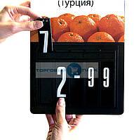 Ценник наборной. Кассета цен А4, черный, пластиковые цифры, фото 1