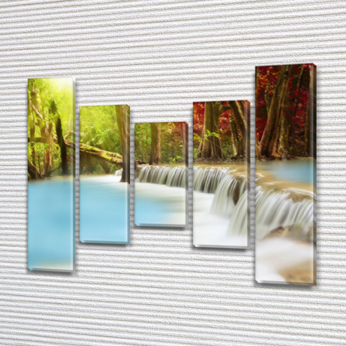 Картины модульные на ПВХ ткани, 90x110 см, (90x20-2/60х20-2/45x20)
