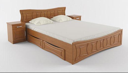 Ліжко двоспальне 160*200 з шухлядами з ДСП/МДФ Сузір'я Летро