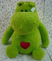 Мягкая плюшевая игрушка  Бегемот с сердцем