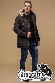 Куртка мужская с мехом зима 2019 (р. 46-56) арт. 14015D коричневый
