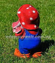 Садовая фигура Гном мухомор средний, фото 3