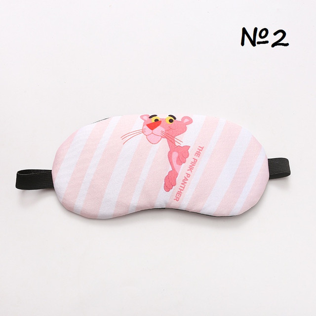 Маска для сна с гелем Розовая Пантера