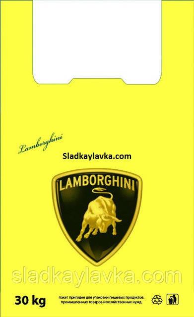 Пакет майка Ламборгини  290*550 100 шт (Украина)