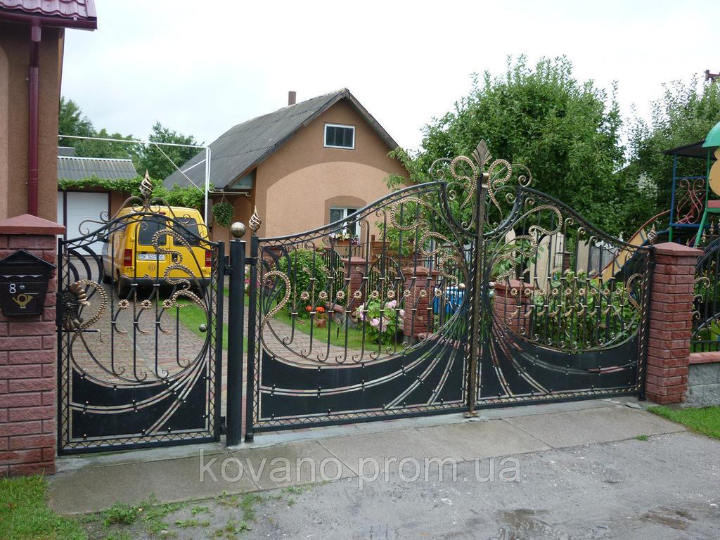 """Кованые ворота от компании """" ПП Брама"""""""
