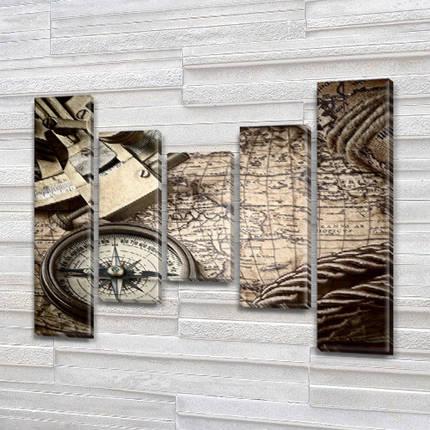 Модульные картины в спальню на ПВХ ткани, 90x110 см, (90x20-2/60х20-2/45x20), фото 2