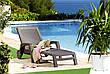 Лежак шезлонг  MIAMI коричневый, фото 6