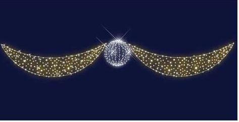 """Светодиодная конструкция Перетяжка """" Хрустальный шар"""" 6,5*1,1, фото 2"""