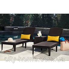 Лежак шезлонгJaipur Sun lounger, коричневый, фото 3