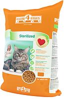 """Полнорационный сухой корм для взрослых стерилизованных кошек CLUB 4 PAWS Премиум """"Стерилизованные"""", 14 кг"""