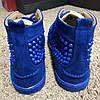 "Кроссовки Christian Louboutin Louis Spikes Men's Flat Suede ""Blue"" (Синие), фото 3"