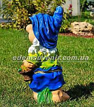 Садовая фигура Гном с фруктами большой, фото 2