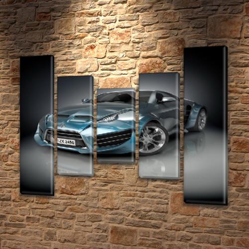 Модульные картины в спальню на ПВХ ткани, 90x110 см, (90x20-2/60х20-2/45x20)