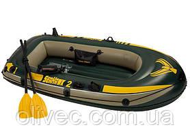 """Надувная лодка """"Intex Seahawk 2"""" с насосом и веслами"""