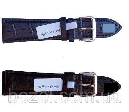 Ремешок для часов из кожи Mustang Standart 24 мм, стальная бакля