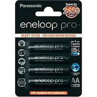 Аккумулятор АА аккумуляторные батарейки Panasonic Eneloop Pro AA 2450 mAh 4 шт