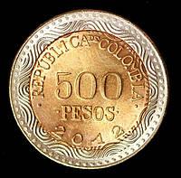 Монета Колумбии 100 песо 2012 г.