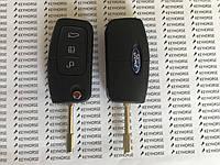 Выкидной ключ для FORD (Форд) заготовка, 3 - кнопки, Чип 4D63, 433 MHz. Лезвие на выбор