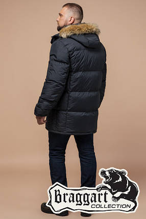 Куртка мужская большого размера с опушкой 2084, фото 2