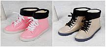 ОПТ Стильные резиновые ботинки осень-зима, фото 3