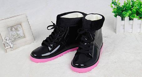 ОПТ Стильные резиновые ботинки осень-зима, фото 2