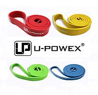 Петли для подтягиваний, Набор из 4-х (от 2 до 54 кг) резиновые петли для спорта U-Powex латекс 100%