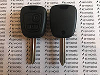 Авто ключ для Citroen (Ситроен) 2 кнопки, с чипом ID46, PCF 7961, 433Mhz, ASK лезвие SX9