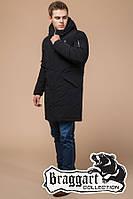 """Мужская удлиненная зимняя куртка Braggart """"Arctic"""" (р. 44-56) арт. 23675А черный"""