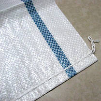 Полипропиленовый мешок на 25 кг, белый, размер 50*75см, фото 2
