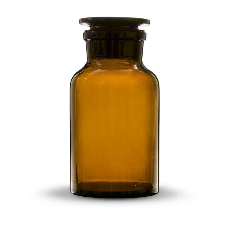 Бутыль для реактивов с пришлифованной пробкой, широкое горло, темная 30 мл, стекло