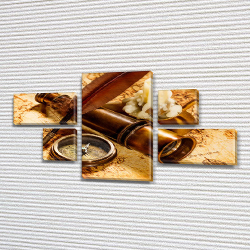 Картины модульные на Холсте, 80x140 см, (25x45-2/25х25-2/80x45)