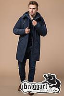 """Удлиненная мужская зимняя куртка Braggart """"Arctic"""" (р. 44-56) арт. 23675В синий"""