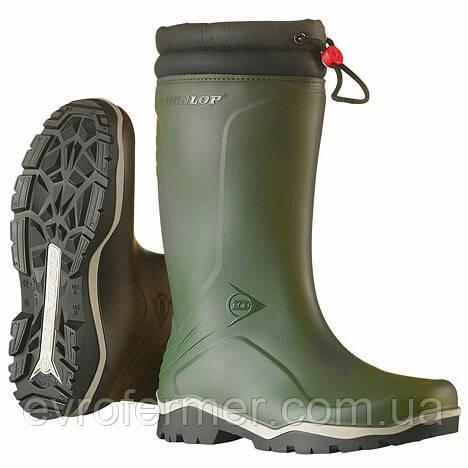 Зимние непромокающие резиновые сапоги Dunlop Blizzard для охоты и рыбалки