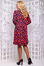Женское платье, размеры от 50 до 54, трикотажное, свободное, асимметричное, повседневное, нарядное, фото 3
