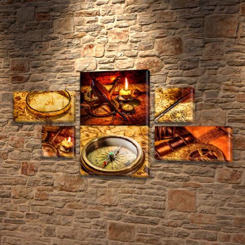 Модульные картины купить украина на Холсте, 80x140 см, (25x45-2/25х25-2/80x45)