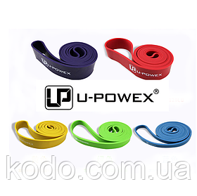 Петли для подтягиваний, Набор из 5-ти (от 2 до 68 кг) резиновые петли для спорта U-Powex латекс 100%