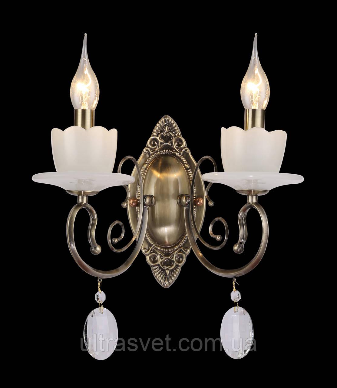 Бра двухламповое свечи 05750-2