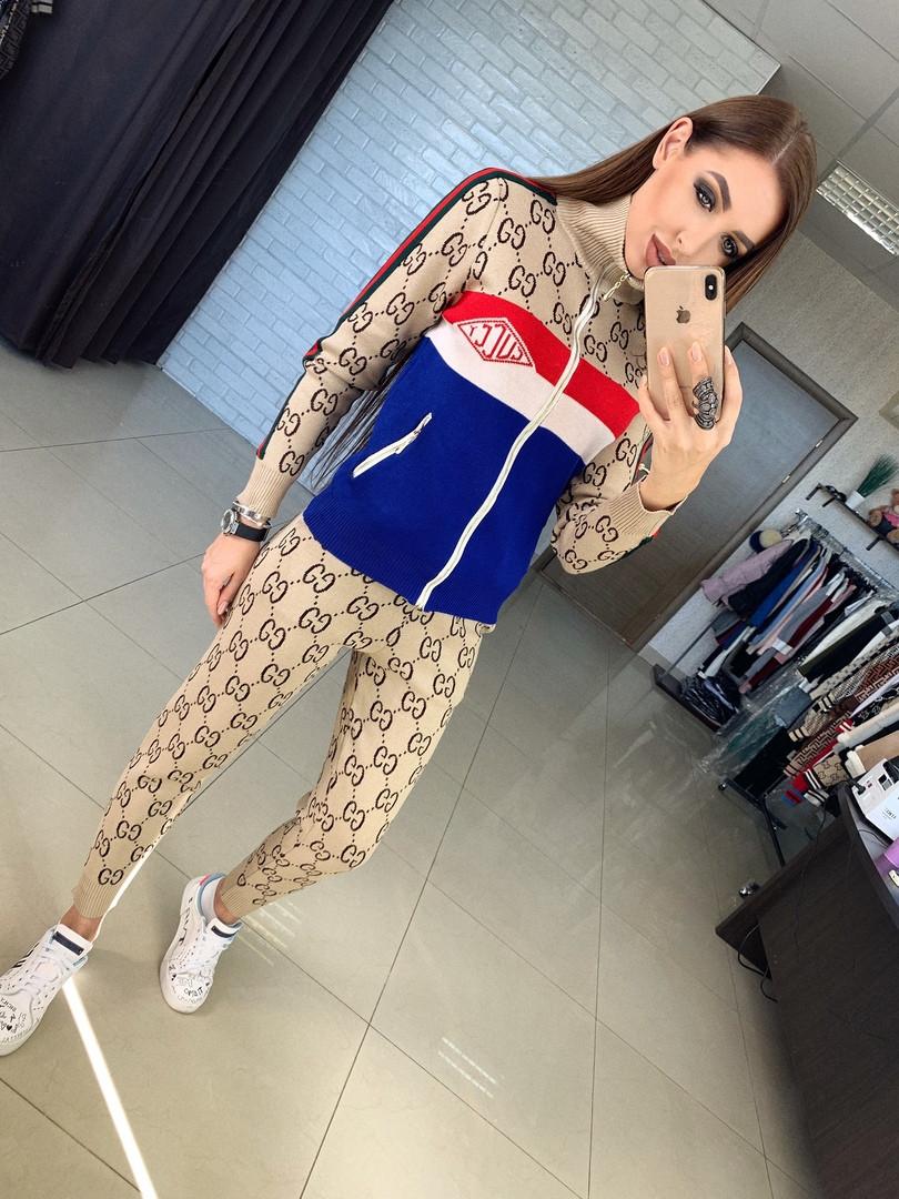 Женский спортивный костюм с принтом, кофта на змейке - Интернет-магазин  одежды